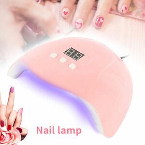 54W-18LEDs-UV-Nail-Lamp-Smart-Sensing-Gel-Nails-Polish-Dryer-Manicure-Machine-US