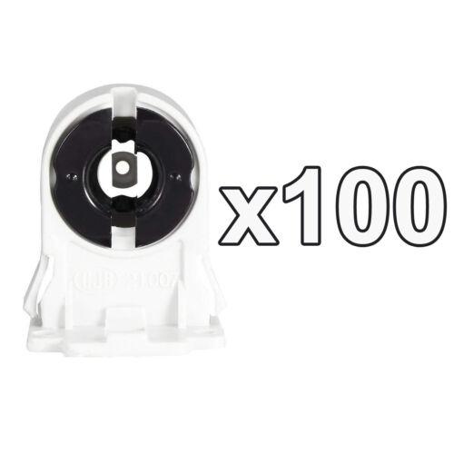 1x-100x T8 /& T12 Fluorescent /& LED Tube Tombstone Lamp Holder Snap-In Slide-On