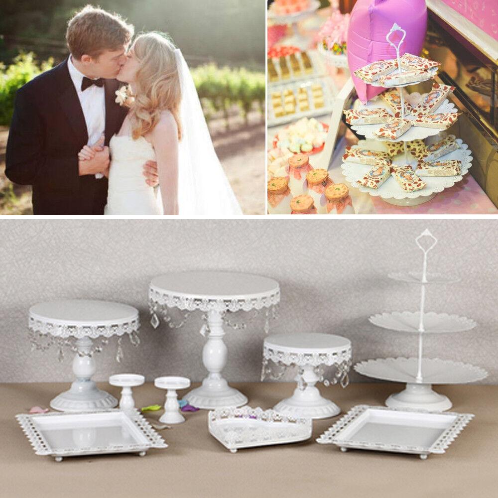 9x Kristall Tortenständer Kuchenständer Hochzeitstorte Tortenplatte Party Deko