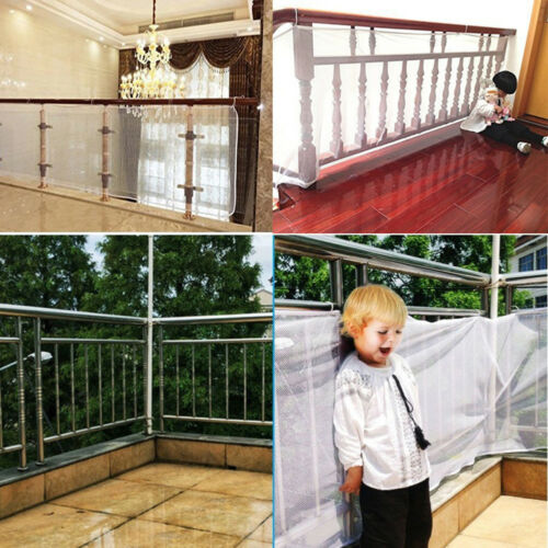 EG/_ SAFETY CHILD RAILNET NET PET GUARD BABY STAIR BALCONY DECK GATE DOG MESH STR