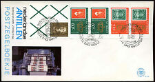 Netherlands Antilles 1980 Queen Beatrix Booklet Pane FDC First Day Cover #C26773