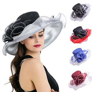 Image is loading Formal-Dress-Womens-Kentucky-Derby-Cap-Hat-Wide- cb0343651d3
