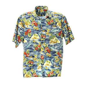 Herren-Kurzarmhemd-Groesse-XL-Freizeit-Shirt-Mix-Muster-Print-Retro-Vintage