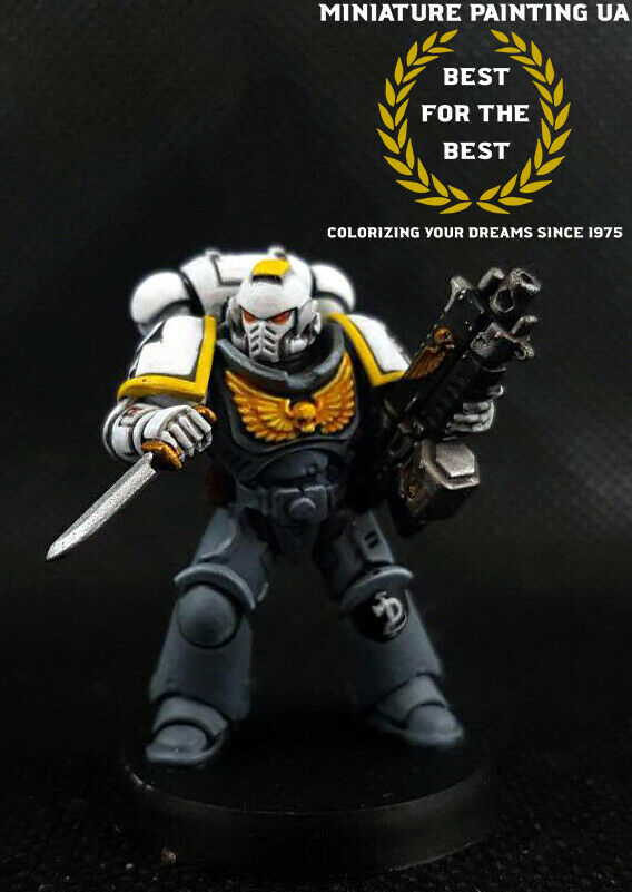 ⭐WH40K Space Marine Primaris Necropolis Hawks Lieutenant Team Commander Painted