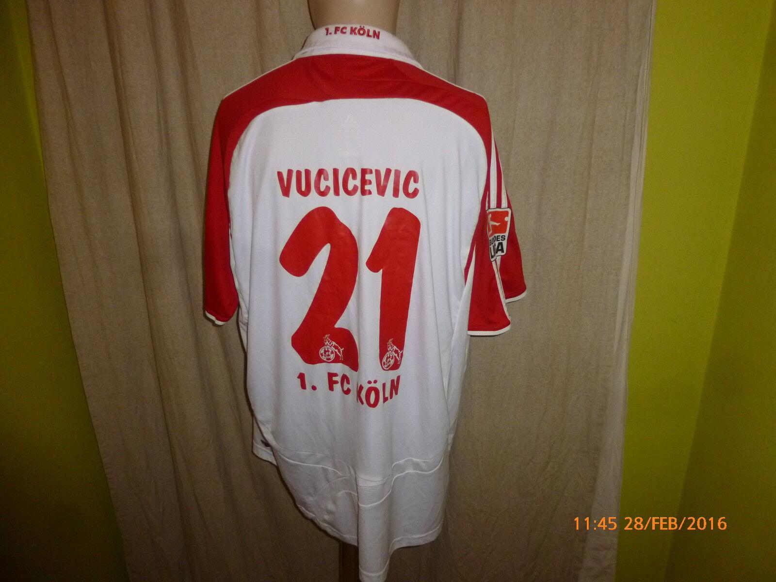 1.FC Köln Köln Köln Adidas Heim Trikot 2007 08  REWE  + Nr.21 Vucicevic Gr.XL- XXL TOP e4c648