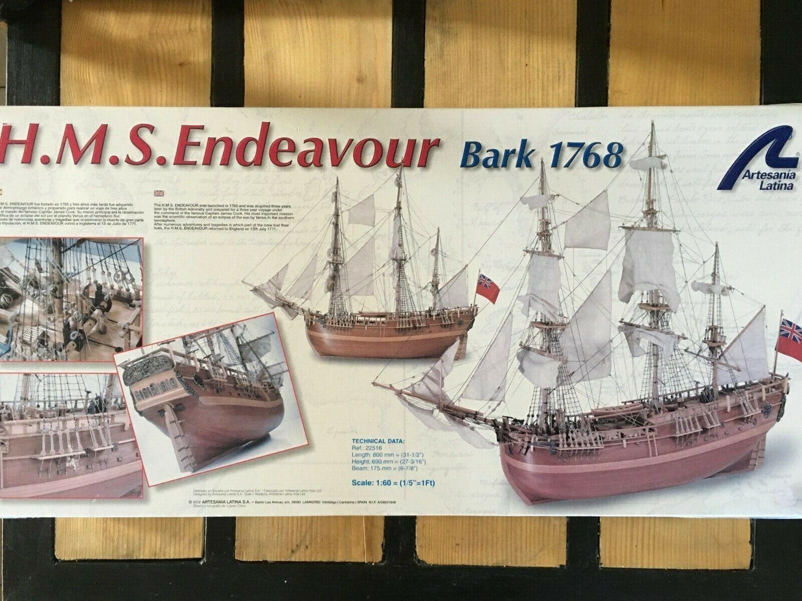 Bateau en bois ARTESANIA LATINA 22516 H.M.S. Endeavour Bark 1769 160.