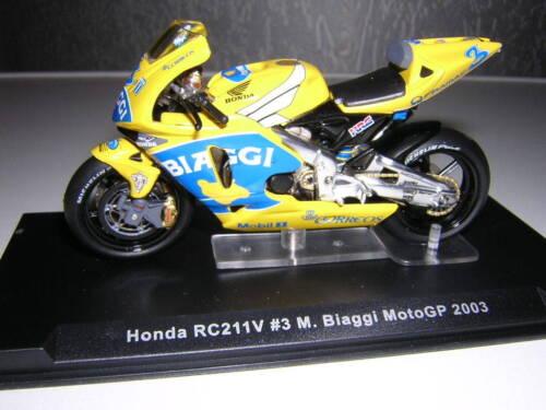 Ixo HONDA RC 211 V MAX BIAGGI MOTO GP 2003 1:24 MOTO