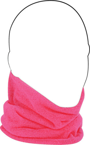 Zan Headgear Microfleece Reversible Neck Gaiter Pink//Hi-Viz WFMFN002HV