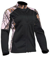 Yukon Gear Ladies Windproof Fleece Soft Shell Jacket Water Resistant Pink Camo