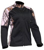 Yukon Gear Ladies Windproof Fleece Soft Shell Jacket Water Resistant Pink Camo