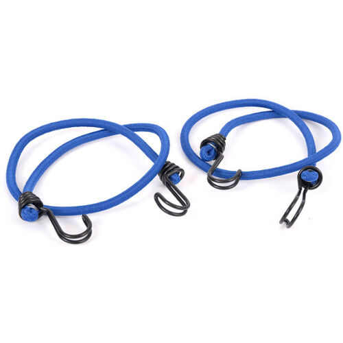 10 PACK OF 8MM X 80CM BLUE LUGGAGE ELASTICS BUNGEE CORD SHOCK CORD STRAPS