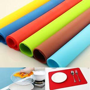 silicone flexible mat pad liner set de table imperm able non slip protecteur lot ebay. Black Bedroom Furniture Sets. Home Design Ideas