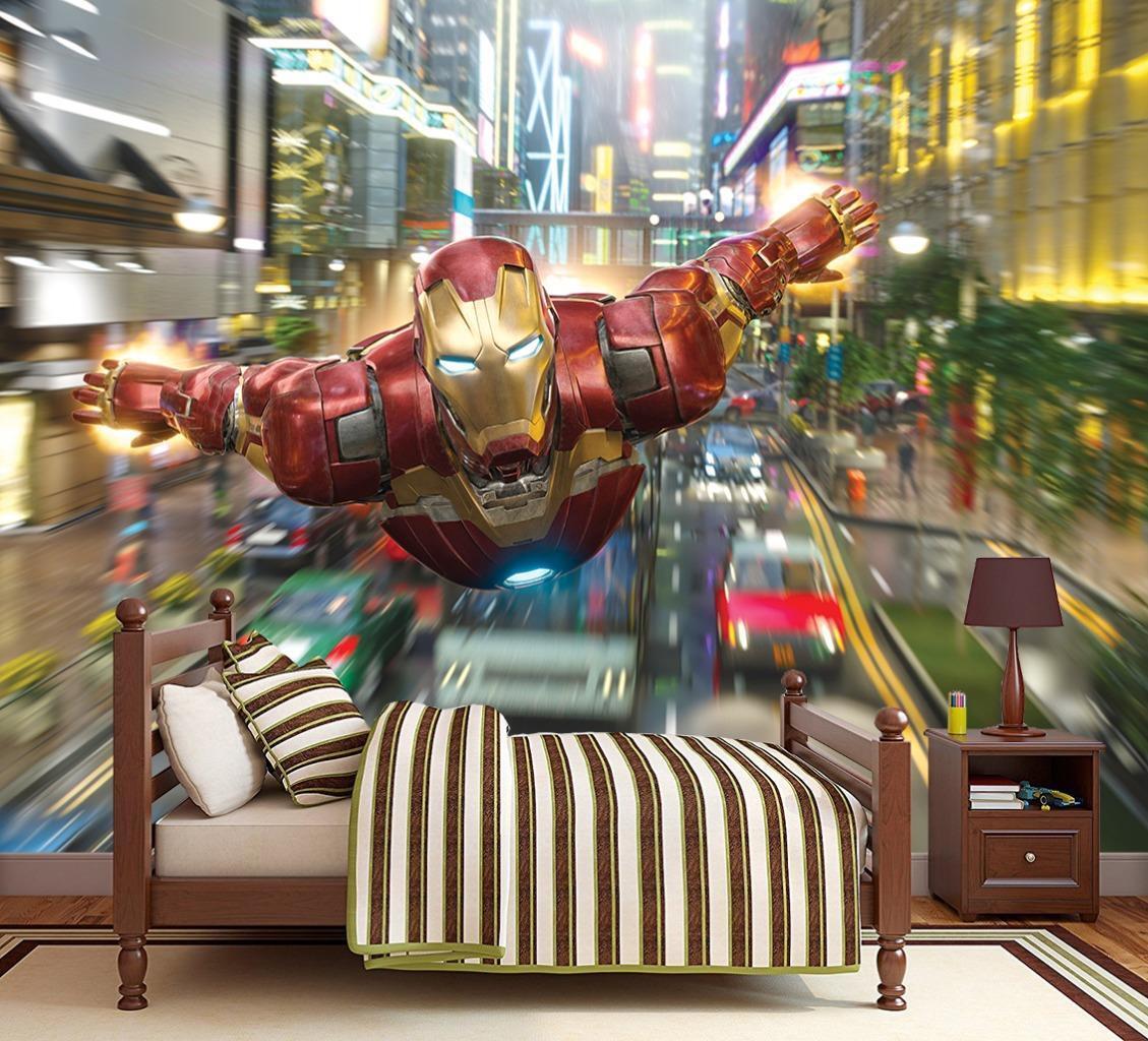 Iron Man Avengers Marvel Photo Wallpaper Woven Self-Adhesive Wall Mural Art M93
