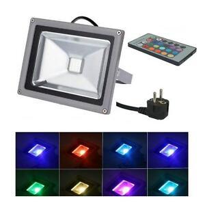 LED-50W-230V-Flutlichtstrahler-farbig-RGB-IP65-Gartenstrahler-Fluter-Strahler