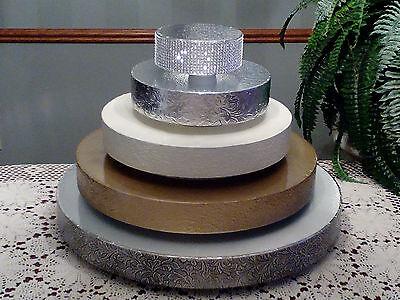 Gold Round Wedding Cake Stand, Cake Stand,  Cake Plateau, Cake Riser, Cake Base