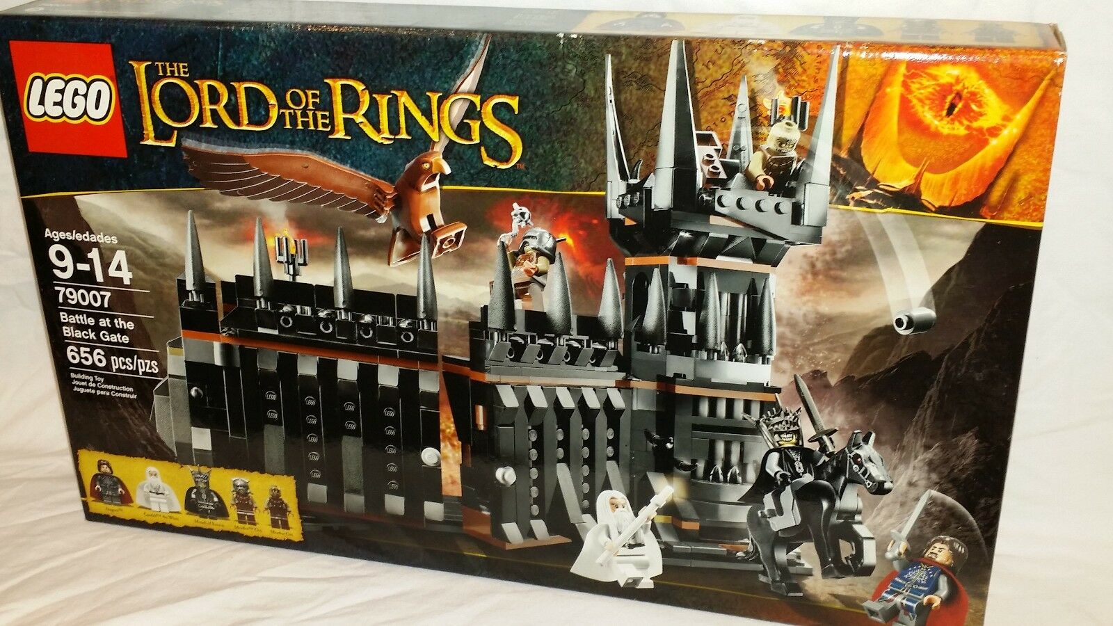 SEALED 79007 LEGO Lord of the Rings BATTLE AT THE schwarz GATE 656 pc set RETIrot