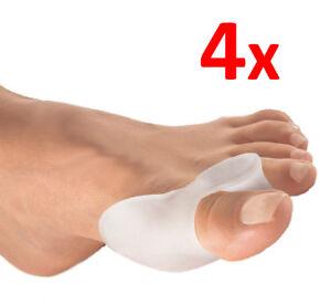4 =2 x 1 Paar Silikon Zehenspreizer PREMIUM Hallux Valgus Korrektur Ballenschutz