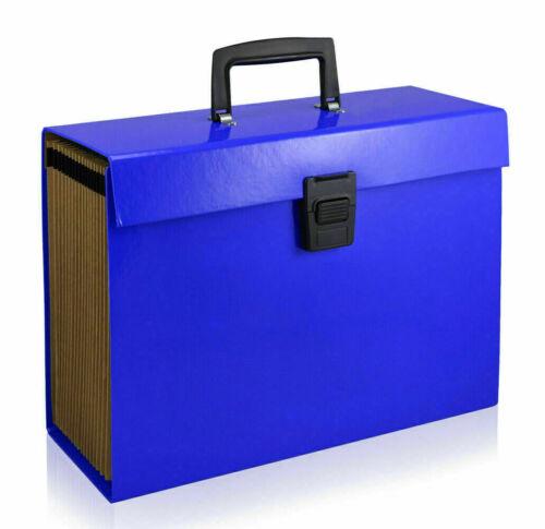 19 or 13 Pocket Expanding A4 Box File Organiser Paper Documents Foolscap Folder