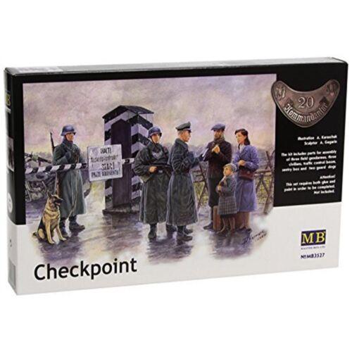 Masterbox 1:35 checkpointset 135 Checkpoint chiens Mas3527 Set frontière allemande