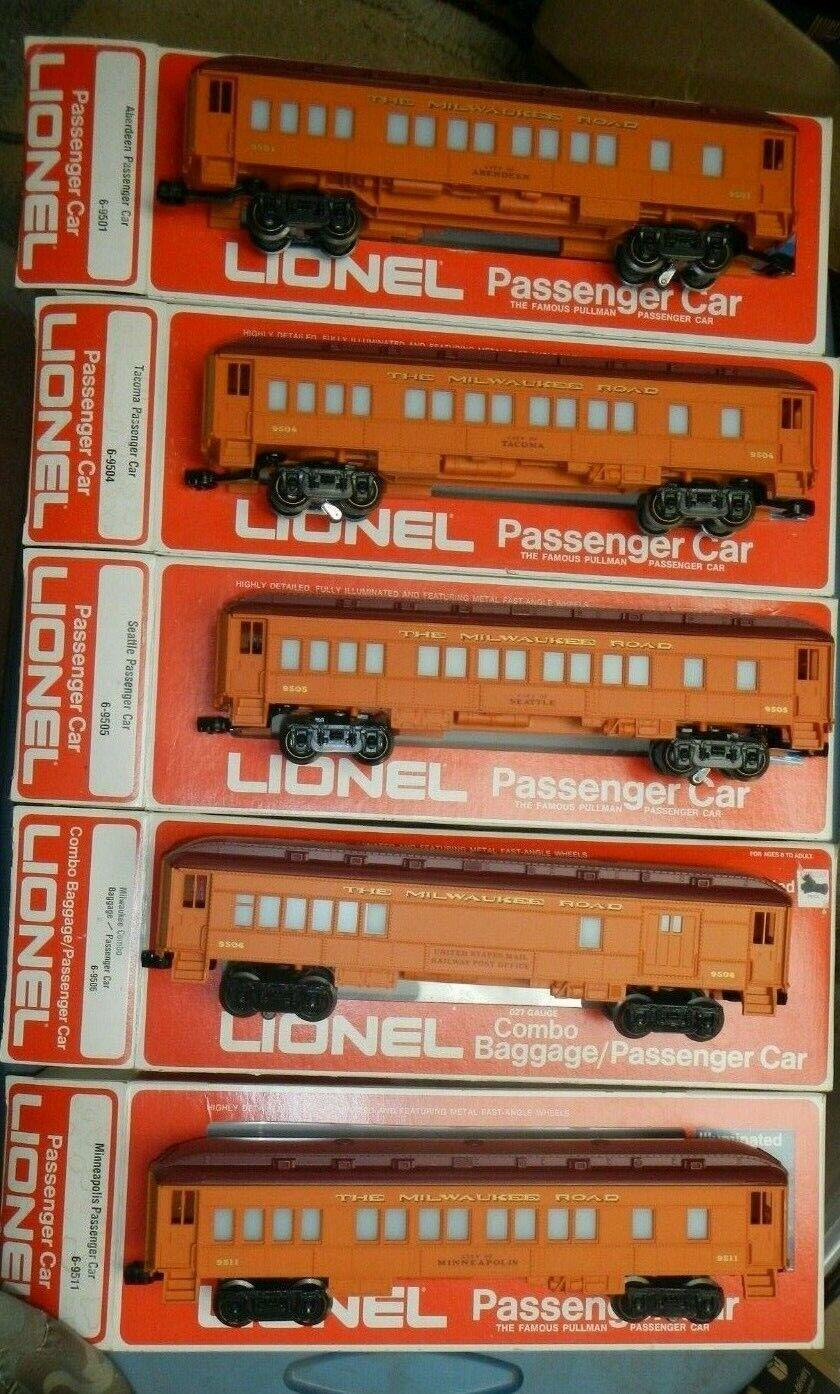 Lionel 6-9501 9504 9505  9506 9511 The Milwaukee Road Illuminated Passenger Set  ultimi stili