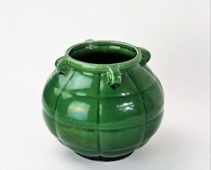 Ravissant Vase Années 40 Vert - Rare Vintage 40s Green Vase (style Vallauris) Prix De Rue