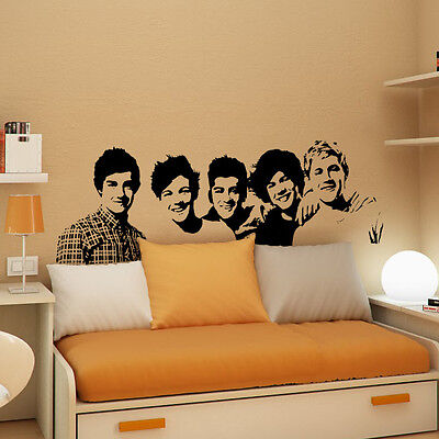 LARGE ONE DIRECTION HARRY LIAM WALL ART STENCIL STICKER POSTER TRANSFER DECAL