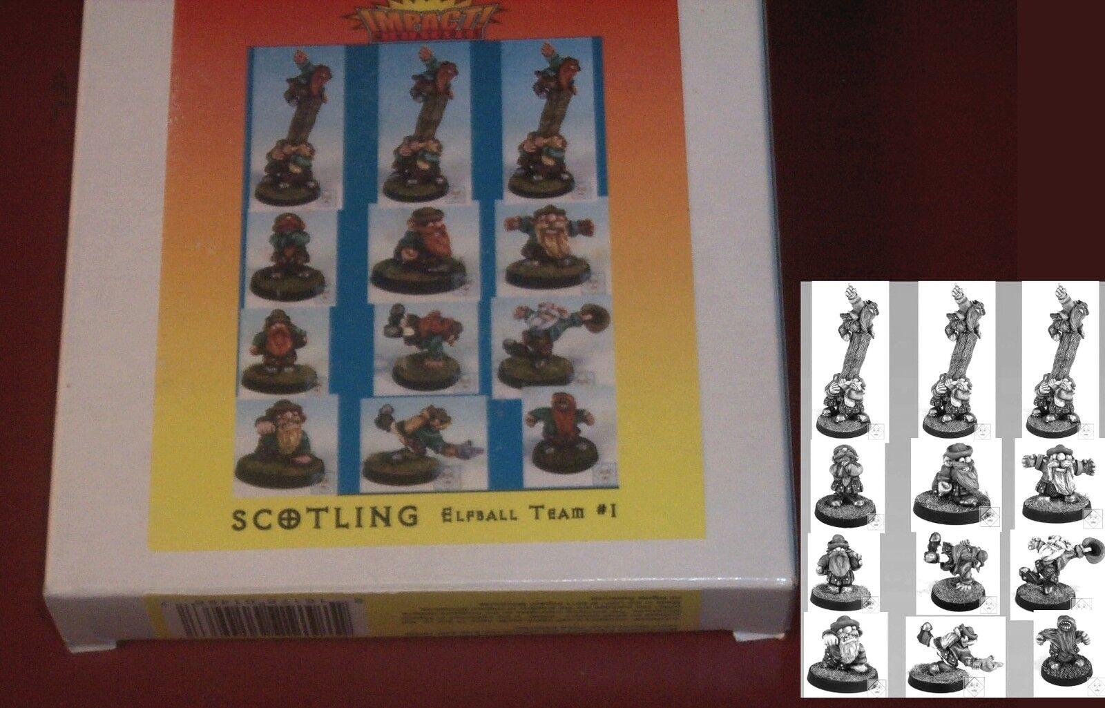 Impact ST-ETM1 Scotling Elfball Team (12) Miniatures Dwarf Football Players