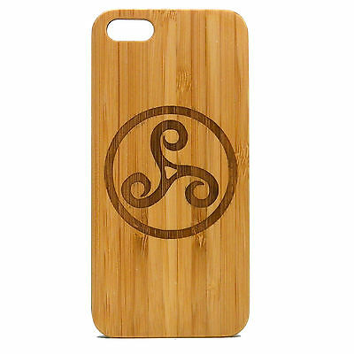Teen Wolf Logo in Wood iphone case