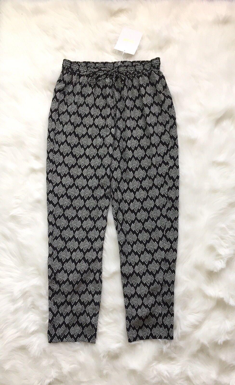Sale NWT  298 Diane von Furstenberg DVF Faustyn 100% Silk relaxed casual pant P