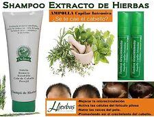1 SHAMPOO Extracto de HIERBAS +  2 ampollas Tonico Crecimiento = Cre-C , Crece