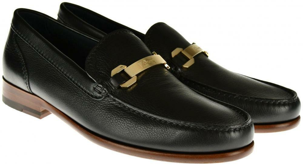 Brioni Dress shoes Loafers Leather 7 US 6 UK Black 03SO0130  1250