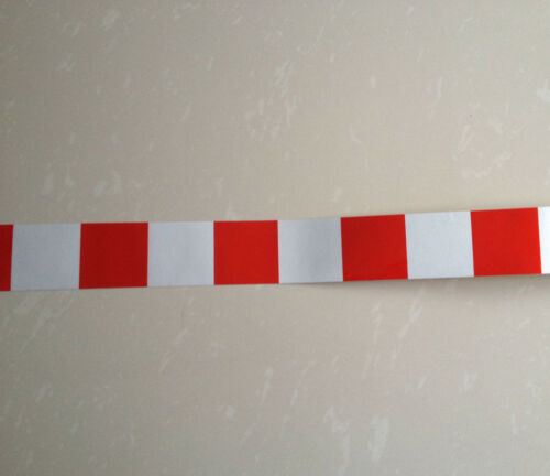 """Square Safety Reflective Self Adhesive Caution Warning Tape Sticker Width 5cm 2/"""""""