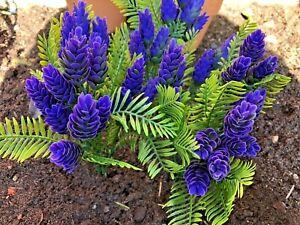 3x Outdoor Artificial False Fake Bedding Plant Flowers Autumn