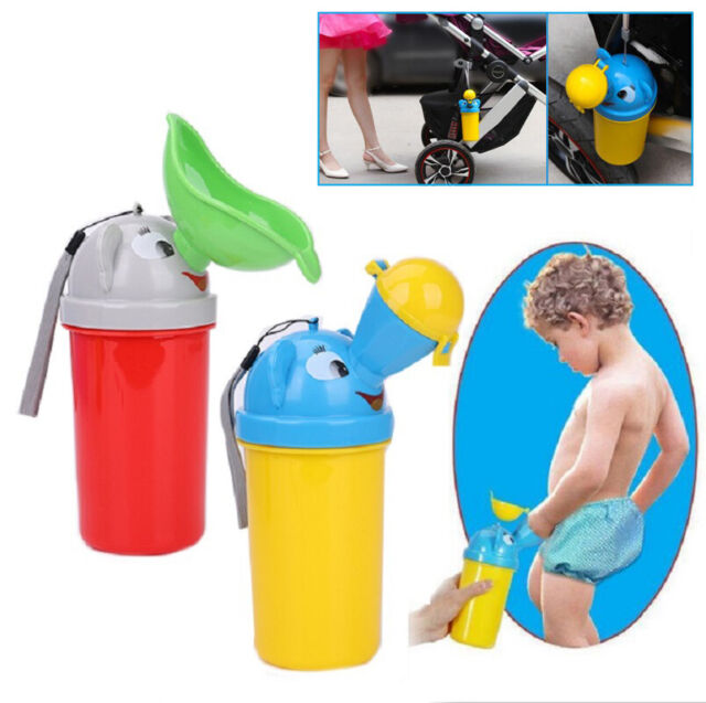 Yellow Collapsable Travel Potty for Boys and Girls Potty Training for Toddlers Kids Camping Car Travel Portable Travel Potty Training Urinal for Kids