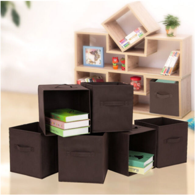 New 6 pcs Home Storage Box Household Organizer Fabric Cube Bin Basket Container