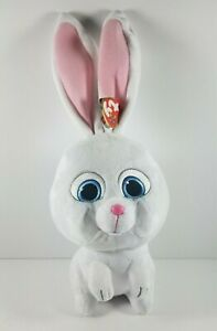 New-Ty-Beanie-Babies-96295-Secret-Life-of-Pets-Snowball-the-Rabbit-Buddy-Retired