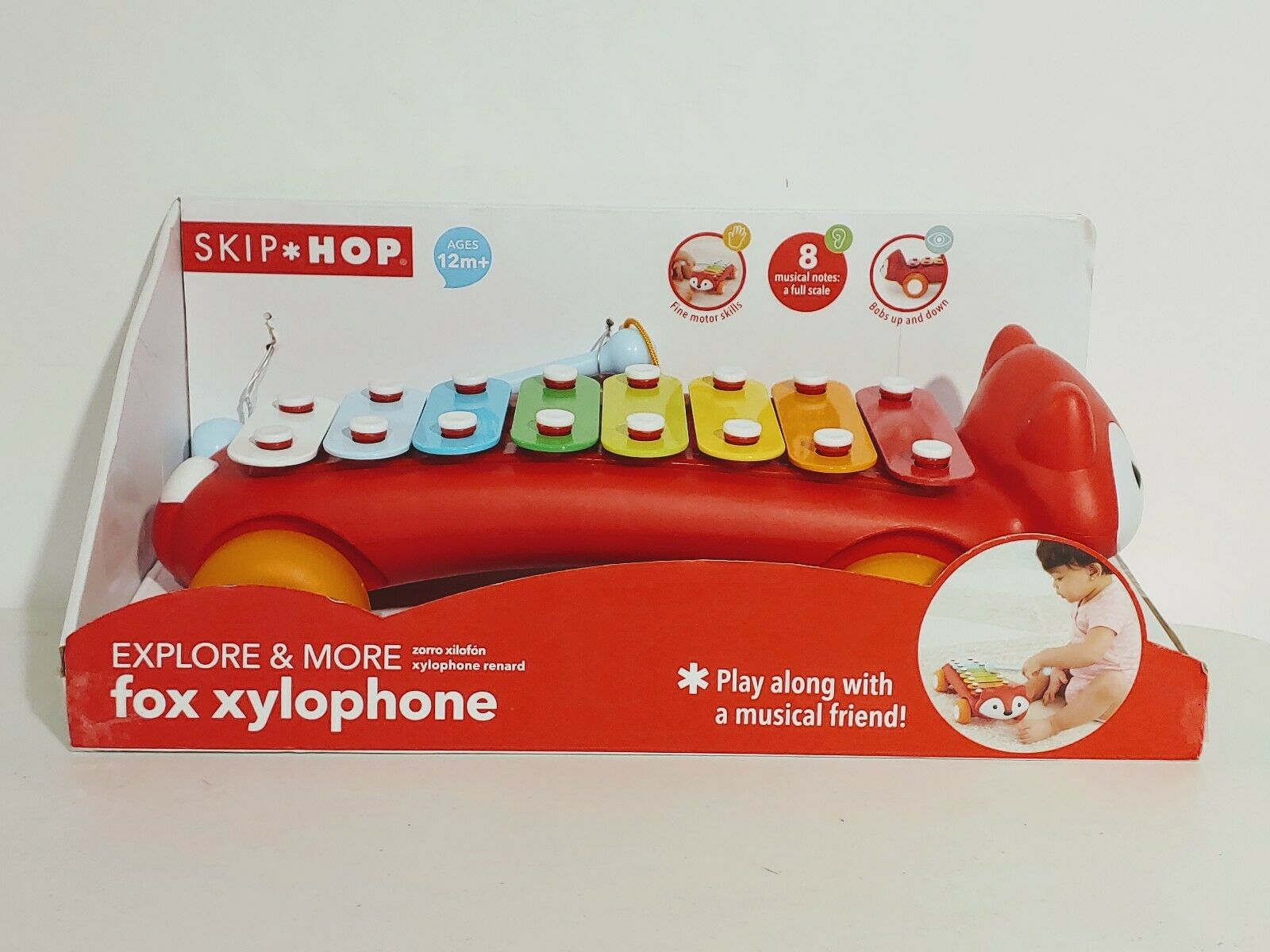 Skip Hop Explore /& More Fox Xylophone Multi