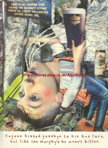 "Murphys Irish Stout /""Eugene/"" 1995 Magazine Advert #2278"