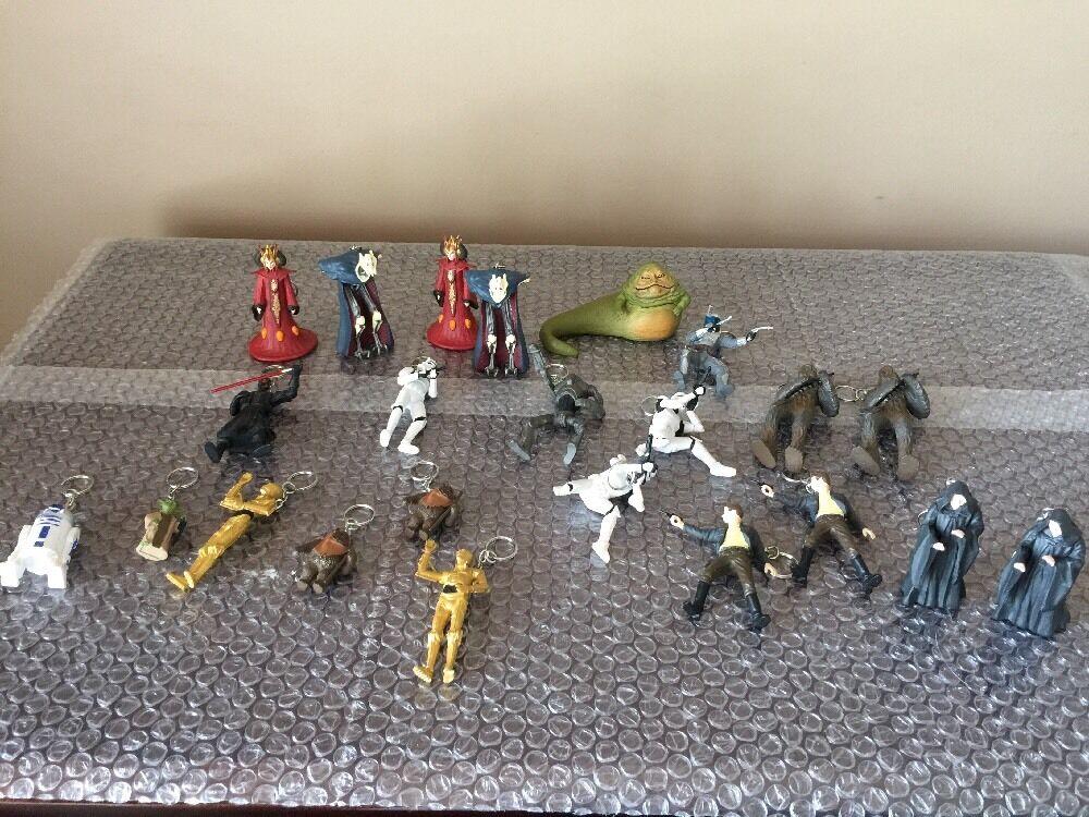 2007 LFL Estrella Wars C-3PO Llavero Llavero encanto Figura de Acción Mega LOT 23 Fett