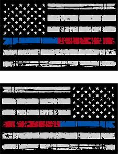 Tattered Police Fire Thin Blue Red Line reflective American Flag 5 ... 9ac13c1bf55