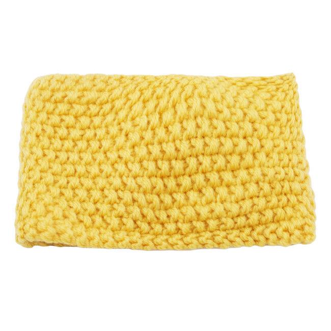 Women's Turban Knitted Ear Warmer Knot Headband Crochet Bow Wool Hairband FA