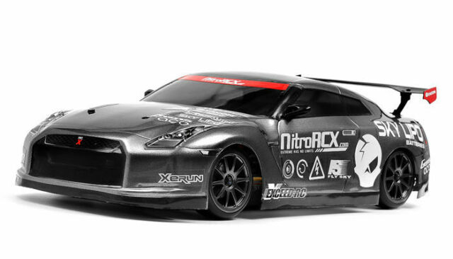 1//10 Exceed RC 2.4Ghz MadSpeed Drift King GT-R Brushed Electric Car RTR Grey NEW