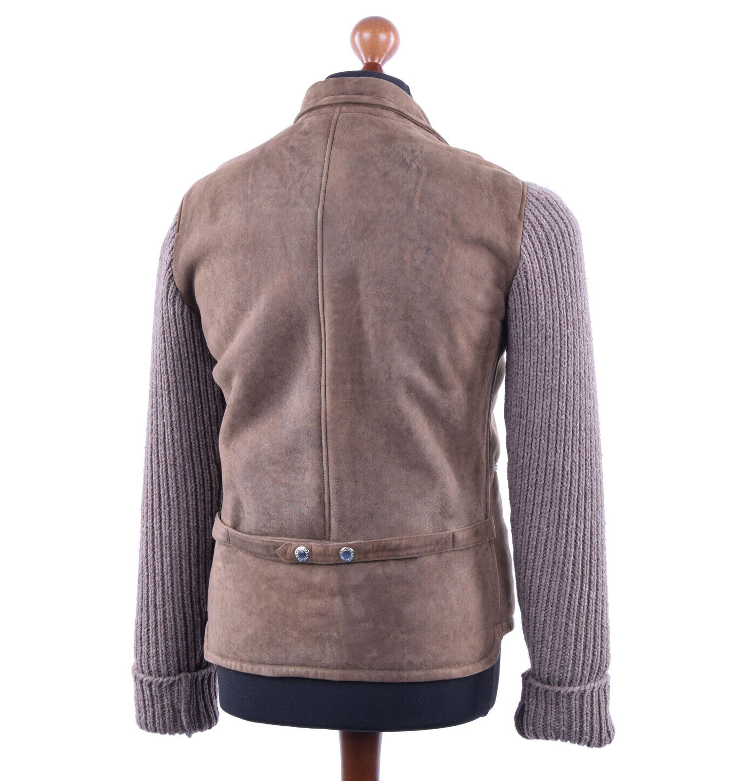 DOLCE & GABBANA GABBANA GABBANA Matelassée Veste en Cuir Veste Daim Marron Leather Jacket 03777 d05b9f