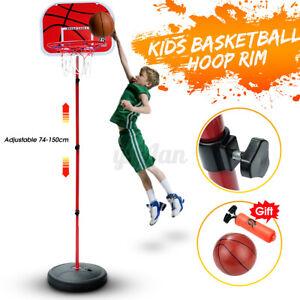 Free-Standing-Basketball-Hoop-Net-Kids-Backboard-Stand-Set-Adjustable-Portable