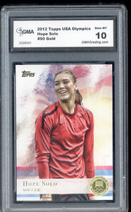 2012-Hope-Solo-Topps-Usa-Olympics-Soccer-Gold-Foil-Rookie-Gem-Mint-10-50