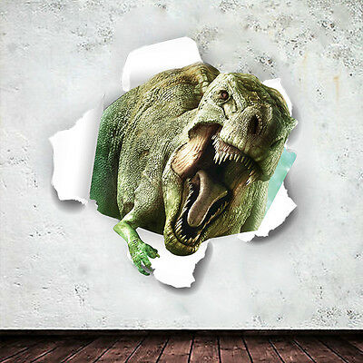 Dinosaur 3D View for Kids Boy's room decal Vinyl Wall sticker Mural Art decor