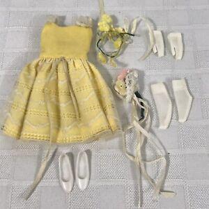 Barbie-Skipper-Clothes-Set-No-1904-Flower-Girl-1964-1965-Vintage-Mattel