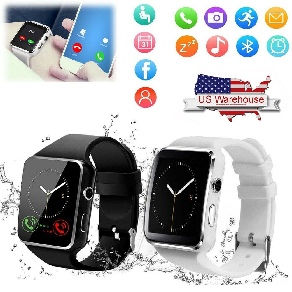 Bluetooth Smart Watch Sport Wristwatch GSM Watch Phone for Samsung Huawei P30 20 bluetooth Featured for gsm huawei phone samsung smart sport watch wristwatch