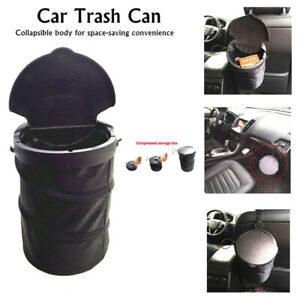 1x Nylon Car Garbage Trash Can Wastebasket Garbage Dust Case Holder Bin Foldable