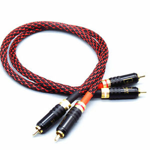 Pair-HI-End-Pure-copper-RCA-To-RCA-Audio-Cable-2RCA-Interconnect-cable-HIFI-M100